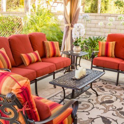 alexis patio set in orange