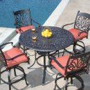 Ariana dining set next to swimming pool