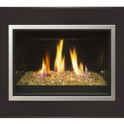 Small outdoor fireplace effects