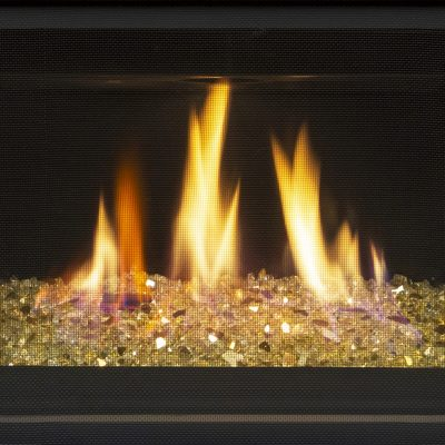 Glass only option outdoor fireplace