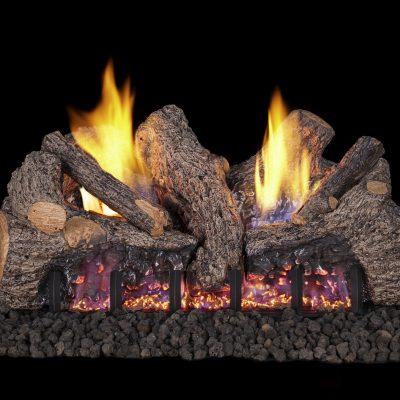Outdoor fireplace effect gas logs