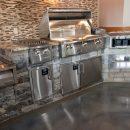 Beautiful stainless steel outdoor kitchen