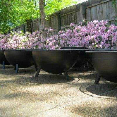 Fire pits on display at Collierville, Memphis TN store