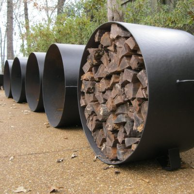 wood logs in fire pits