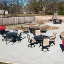 Range of patio furniture on display at Outdoor Living store
