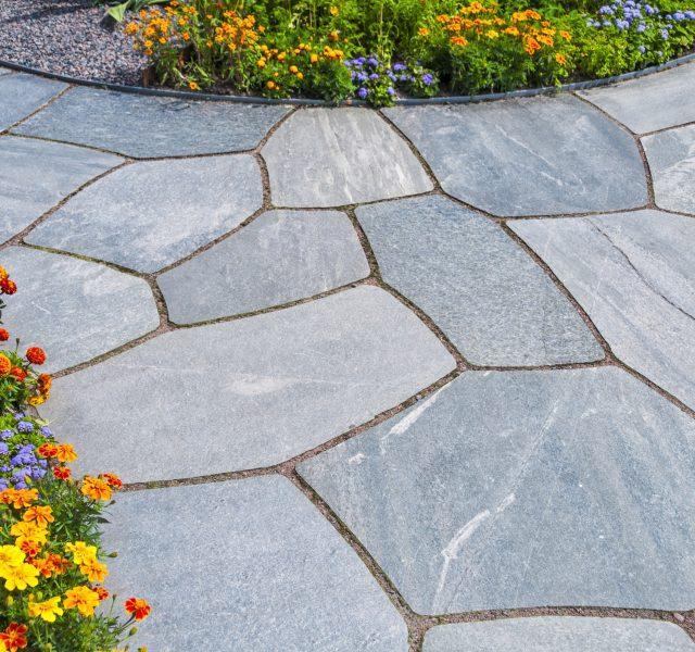 Paver stones in gray