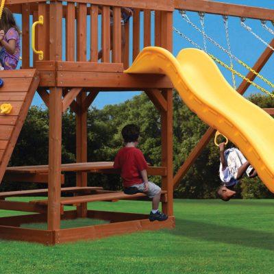 Backyard playset with swings