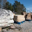 Boulders in stock for garden landscaping projects