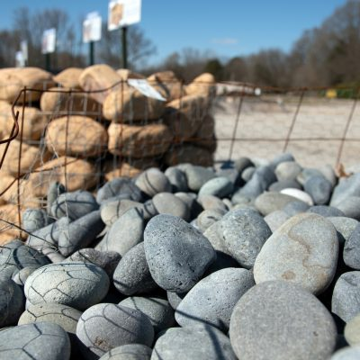 Large landscaping pebbles