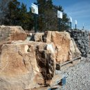 Large sandstone rocks for landscaping projects