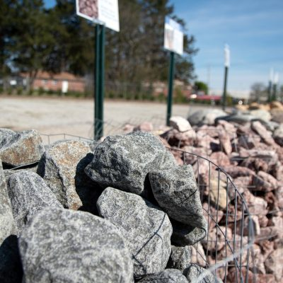 Granite and limestone rocks for landscaping