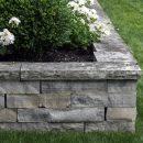 Gray natural stone retaining wall