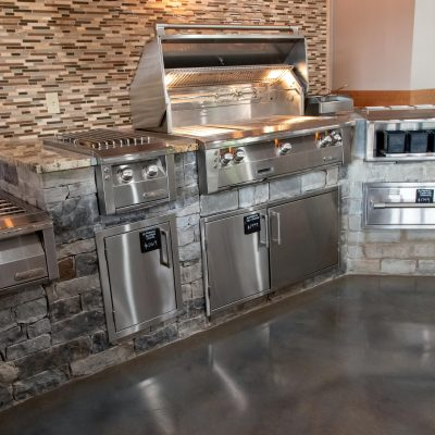 Silver alfresco kitchen grill